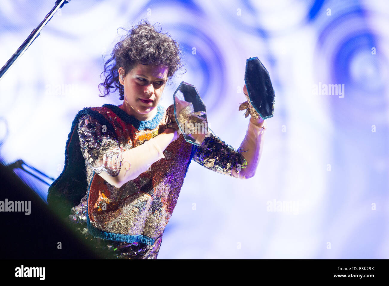 Rome, Italy. 23rd June, 2014. Régine Chassagne of Arcade Fire performs live in Rome at the Rock in Roma Festival - Stock Image