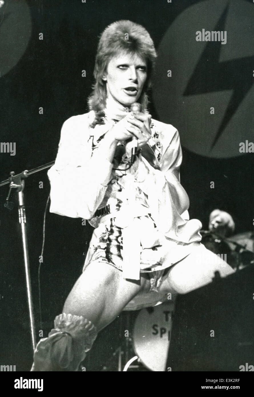 david bowie at hammersmith odeon,1973 - Stock Image