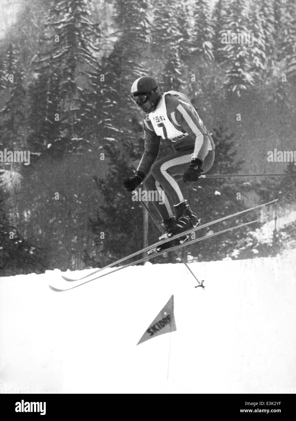 karl schranz,chamonix world skiing championships,1962 - Stock Image