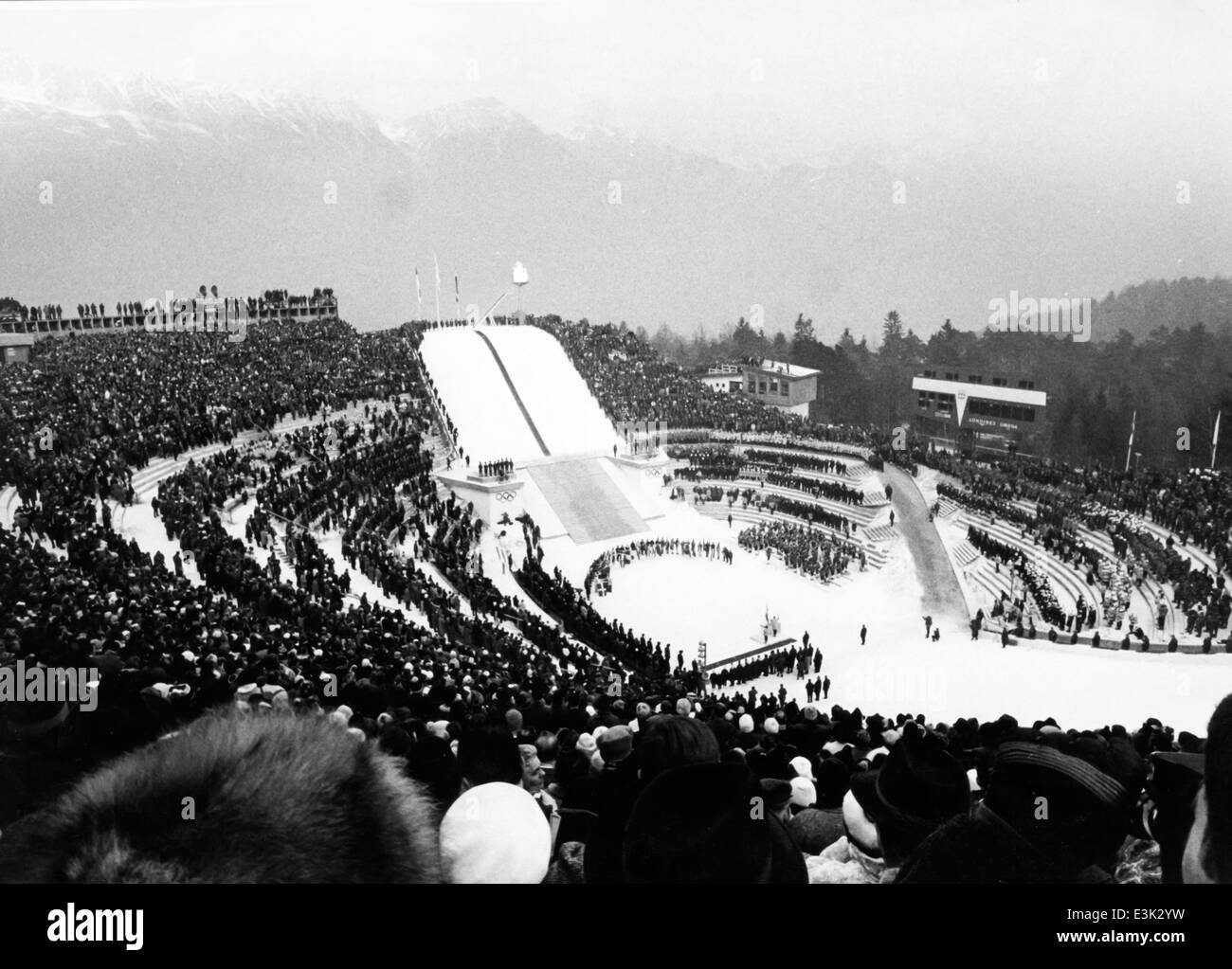 opening ceremony of the IX winter olympic games in innsbruck,1964 - Stock Image