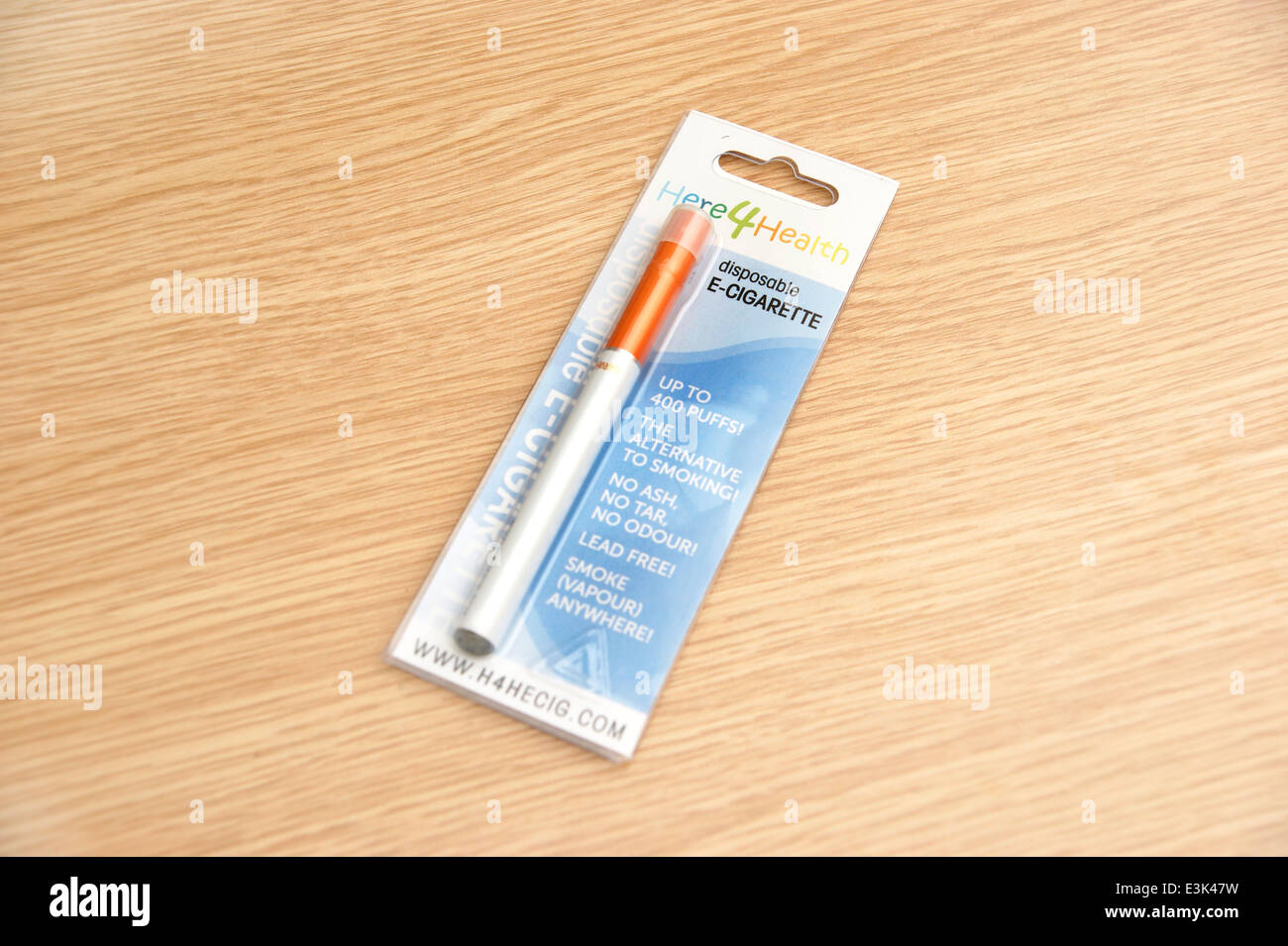 An electronic disposable E Cigarette (e-cigarette) in original packaging used for quitting smoking - Stock Image