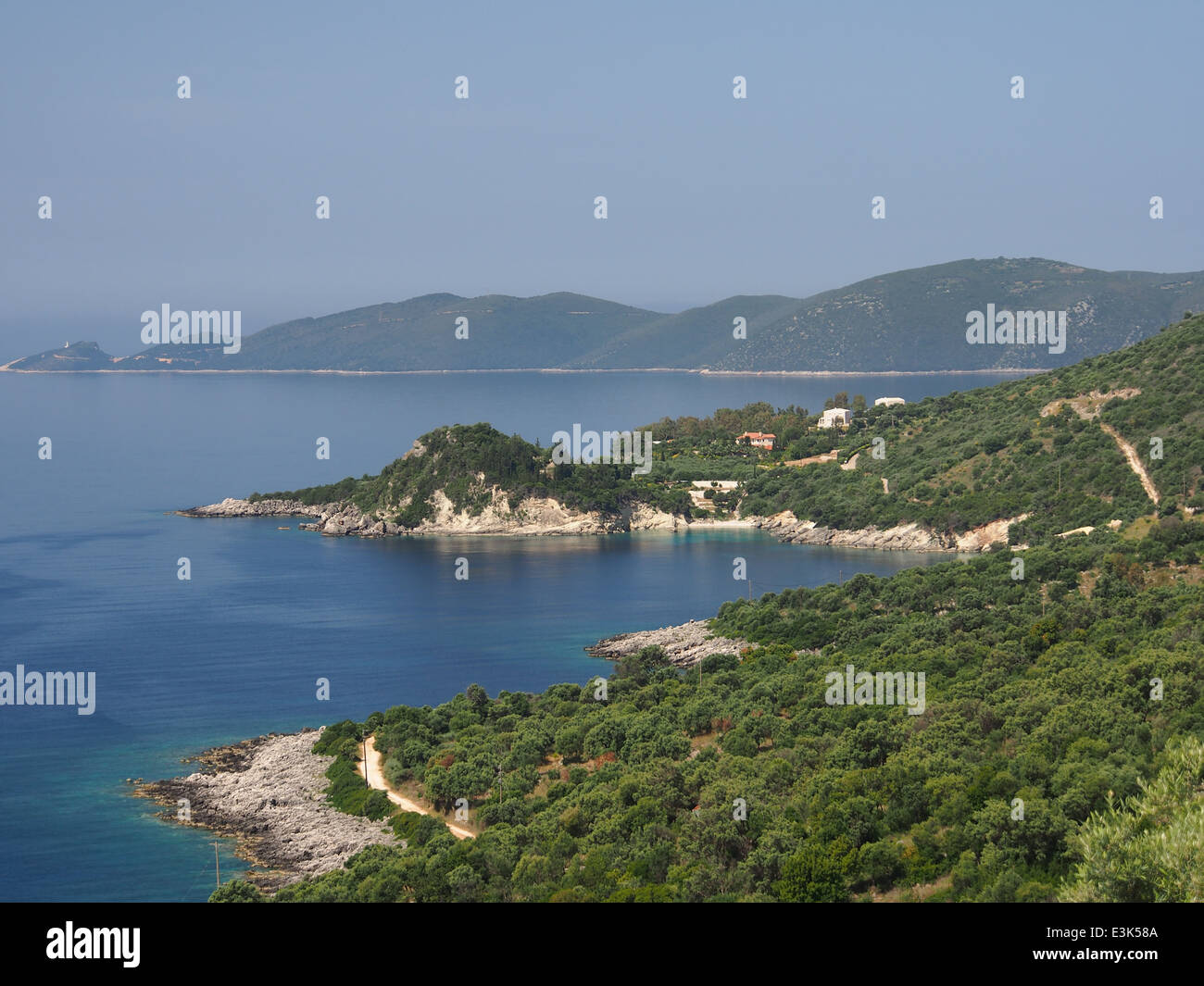 Photographed from Apollonii, 38.604173, 20.635765 - Stock Image