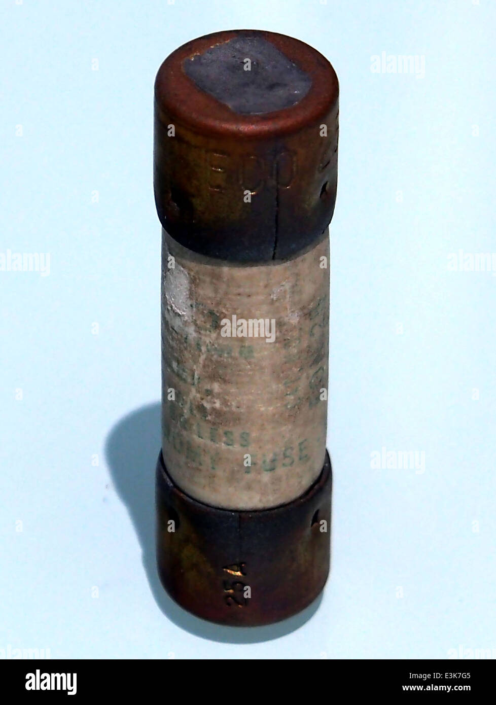 25A ECO cartridge fuse, pic2 - Stock Image