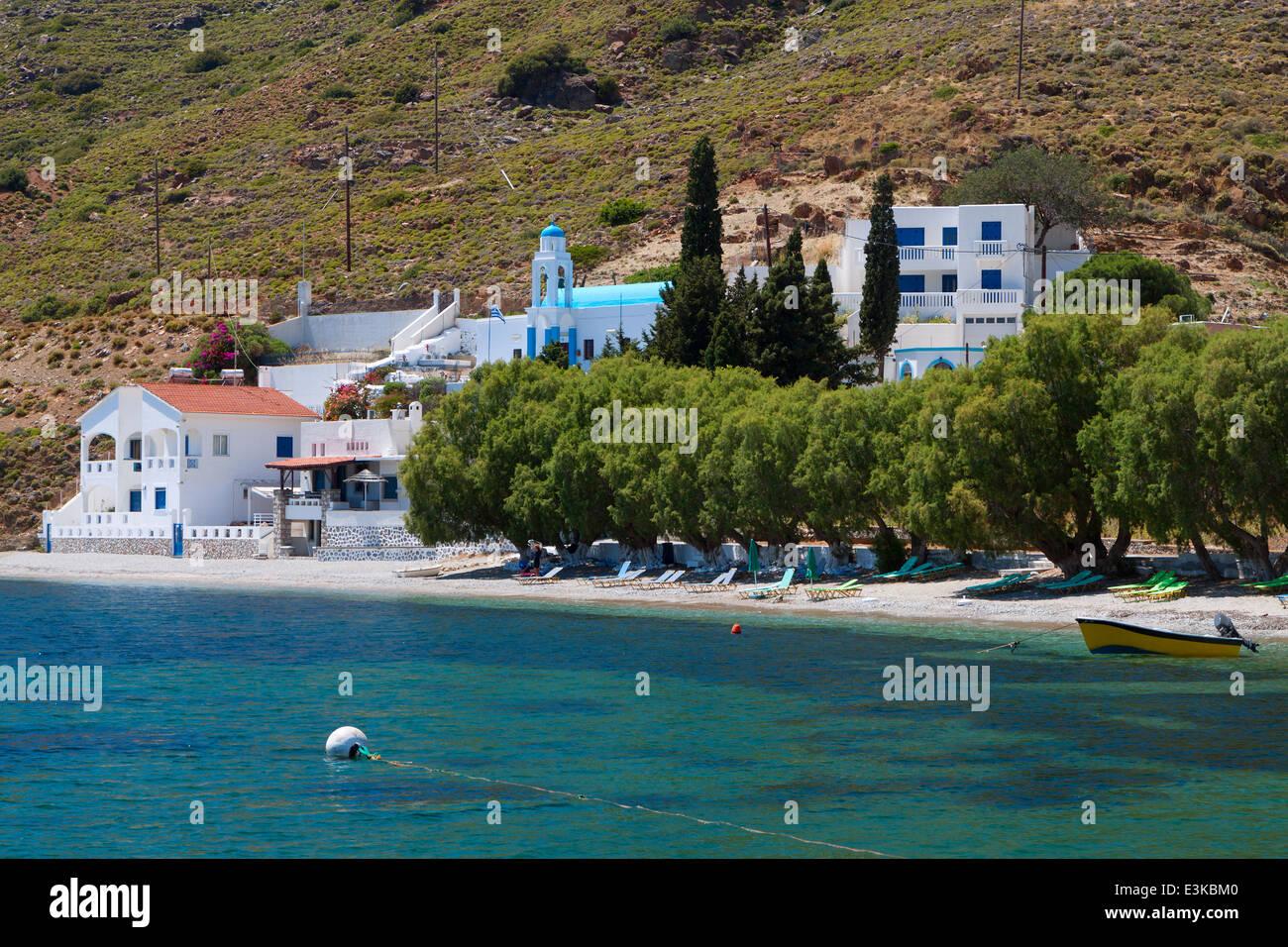 Emborios bay at Kalymnos island in Greece - Stock Image