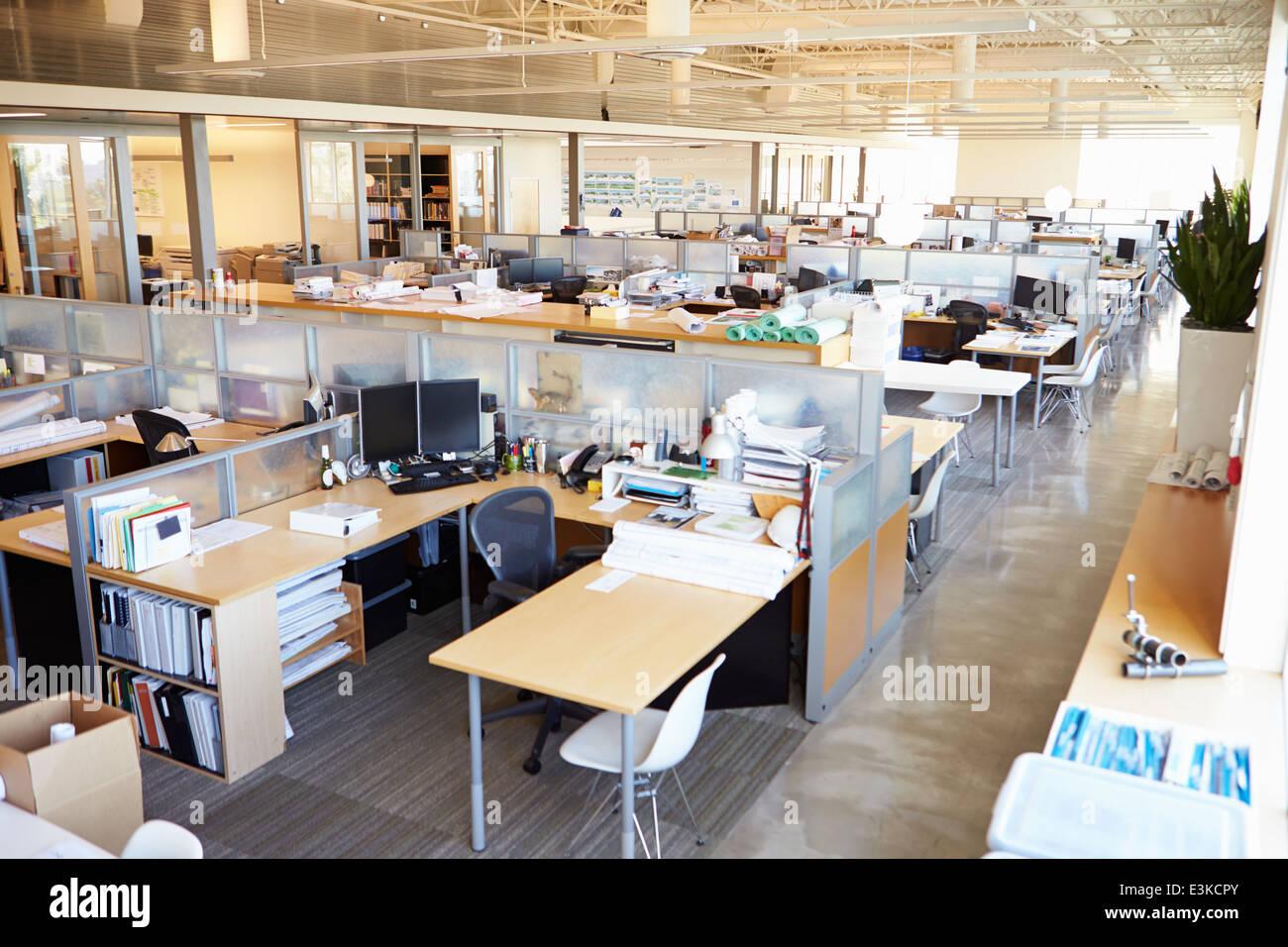 Empty Modern Open Plan Office - Stock Image