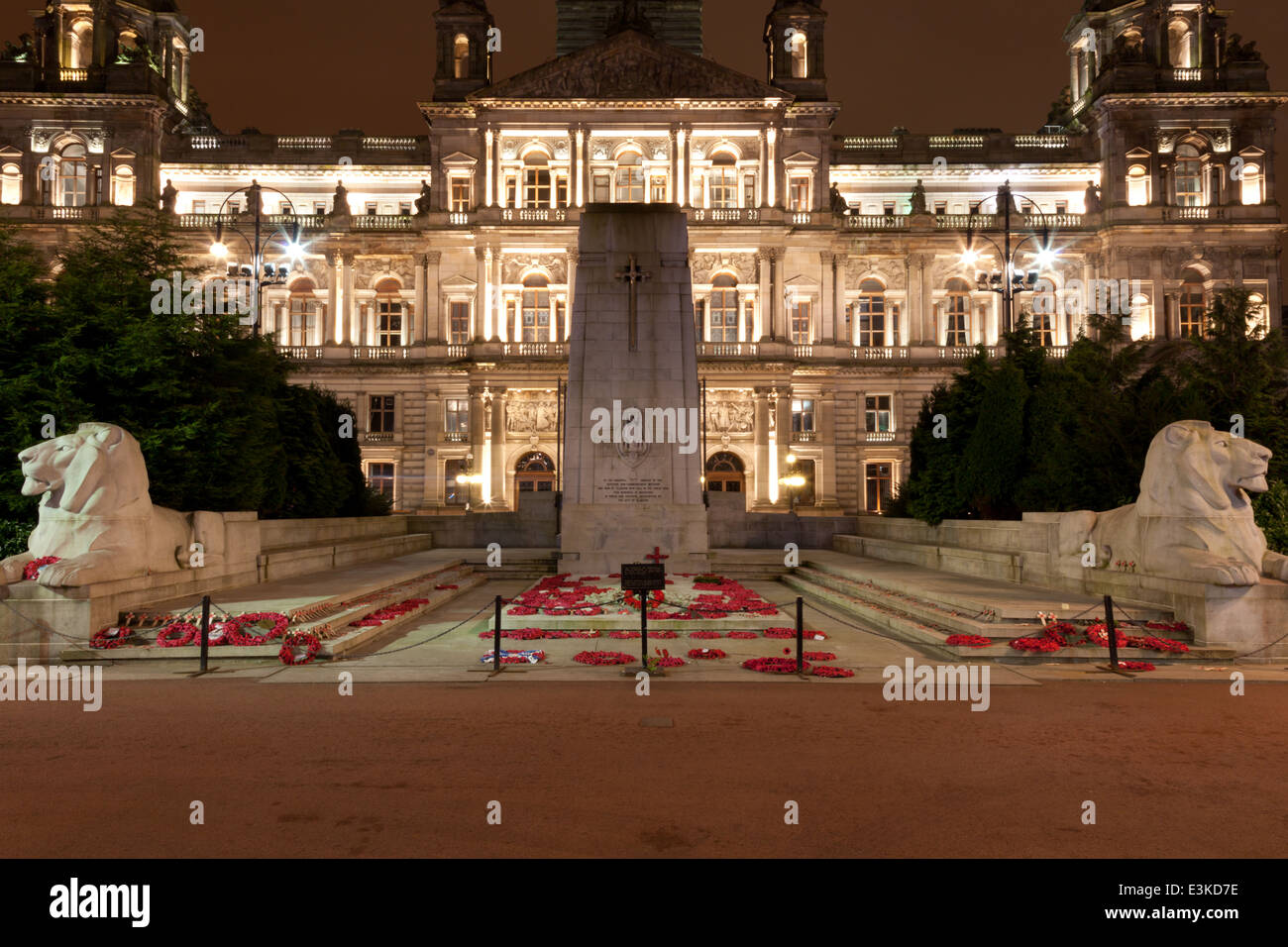 Cenotaph at George Square Glasgow - Stock Image