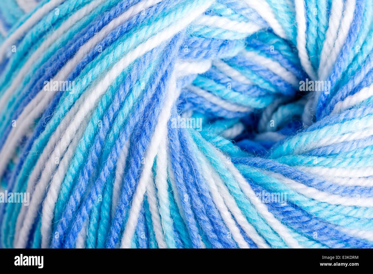 Varicolored balloon of soft yarn - Stock Image