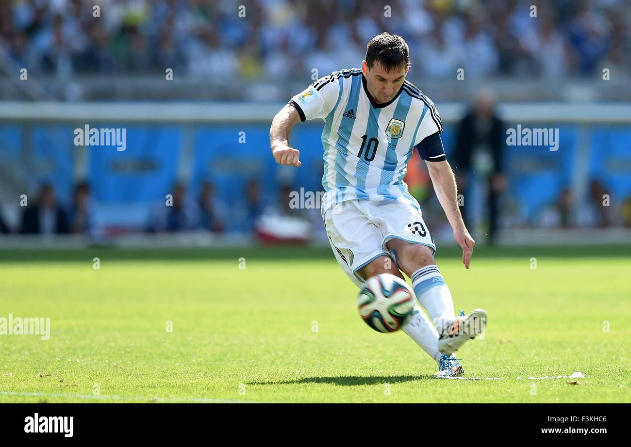 Belo Horizonte, Brazil. 21st June, 2014. Group F match between Argentina and Iran of 2014 FIFA World Cup at the Stock Photo