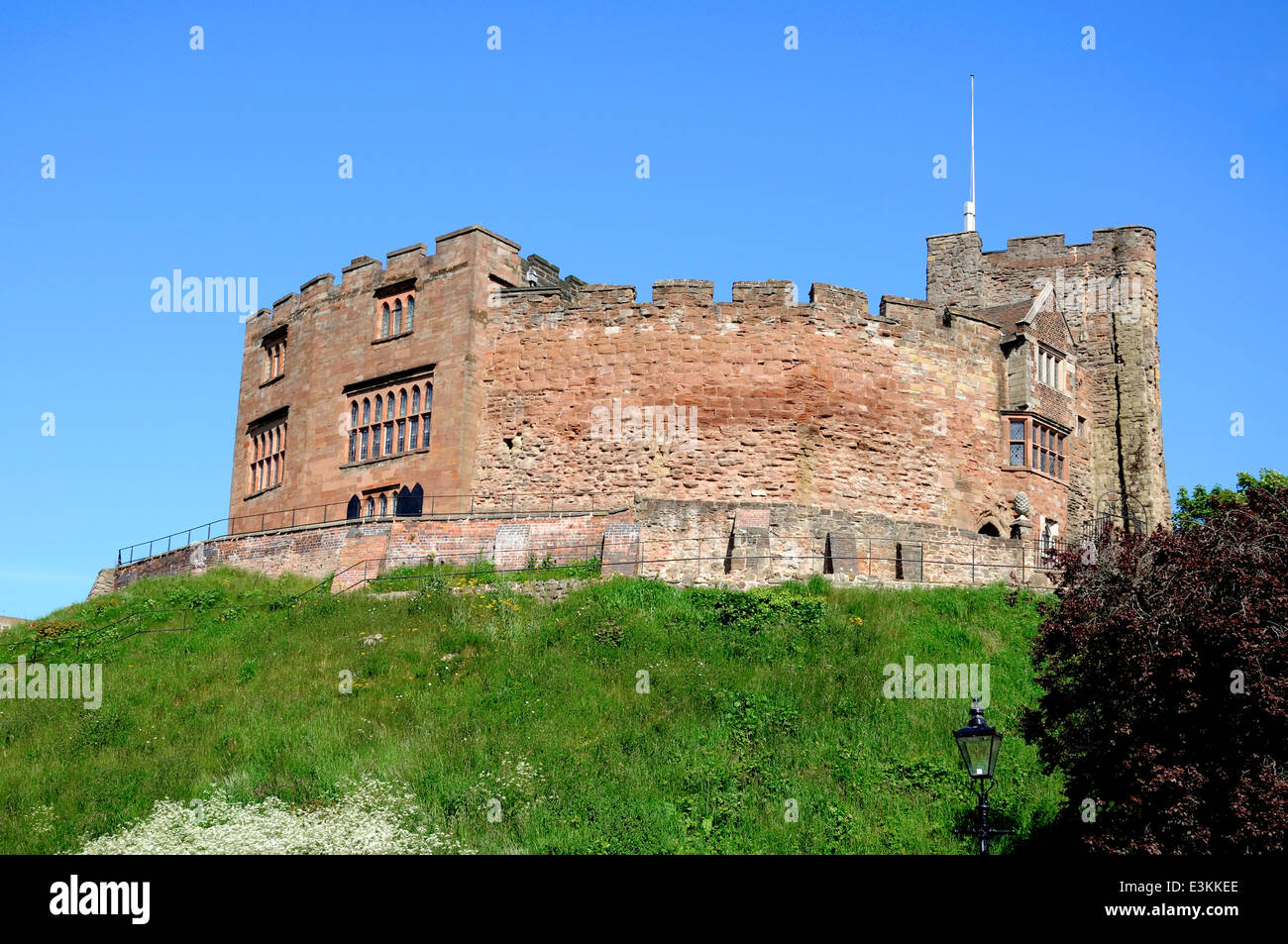 View of the Norman castle, Tamworth, Staffordshire, England, UK, Western Europe. - Stock Image