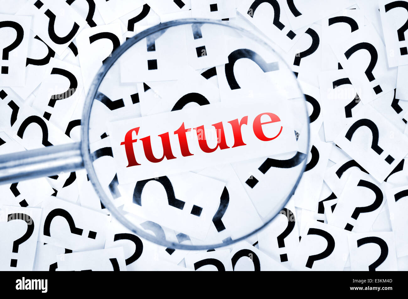 Future word found in many question marks - Stock Image