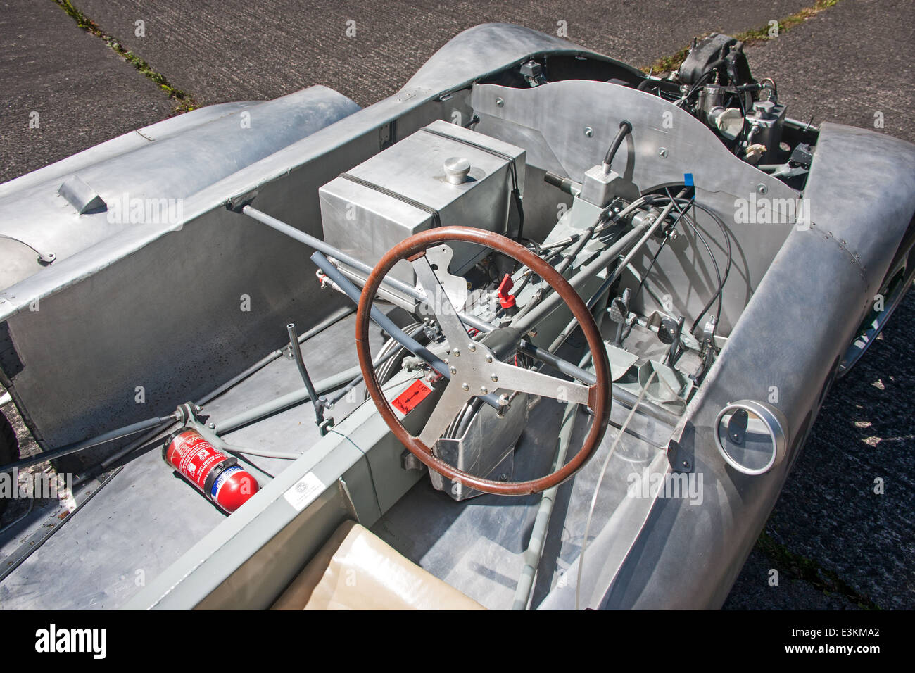 Interior and chassis details of Rex McCandless R2, 4-wheel drive, 500cc  race car, 1953 - Stock Image