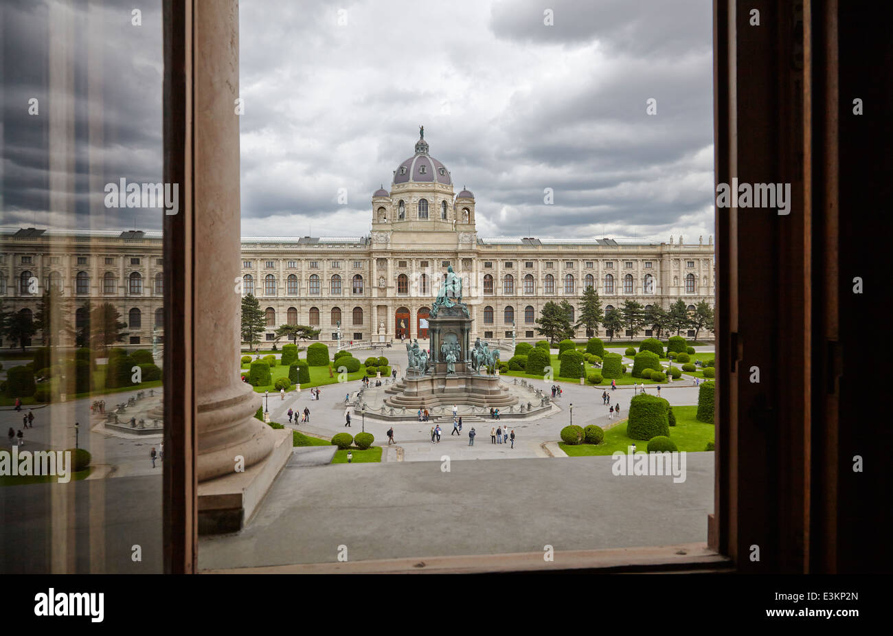 Kunsthistorisches Museum Wien (museum of art history Vienna) seen from the window of the Naturhistorsches Museum - Stock Image