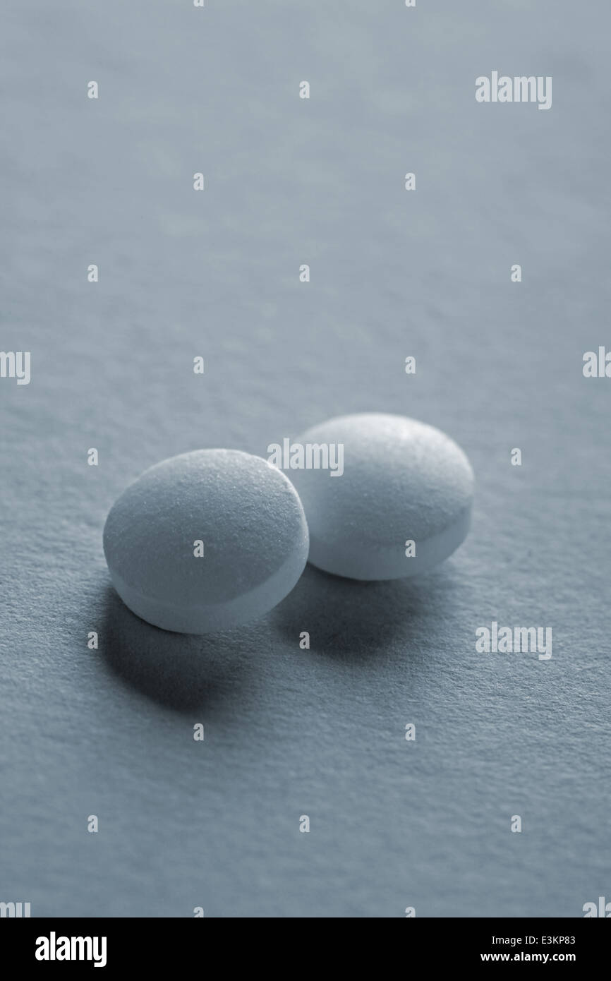 two pills - Stock Image