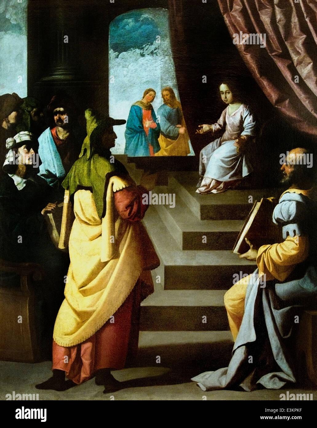Jesus among the Doctors 1629 Zurbarán, Francisco de 1598 -1664 Spain Spanish - Stock Image