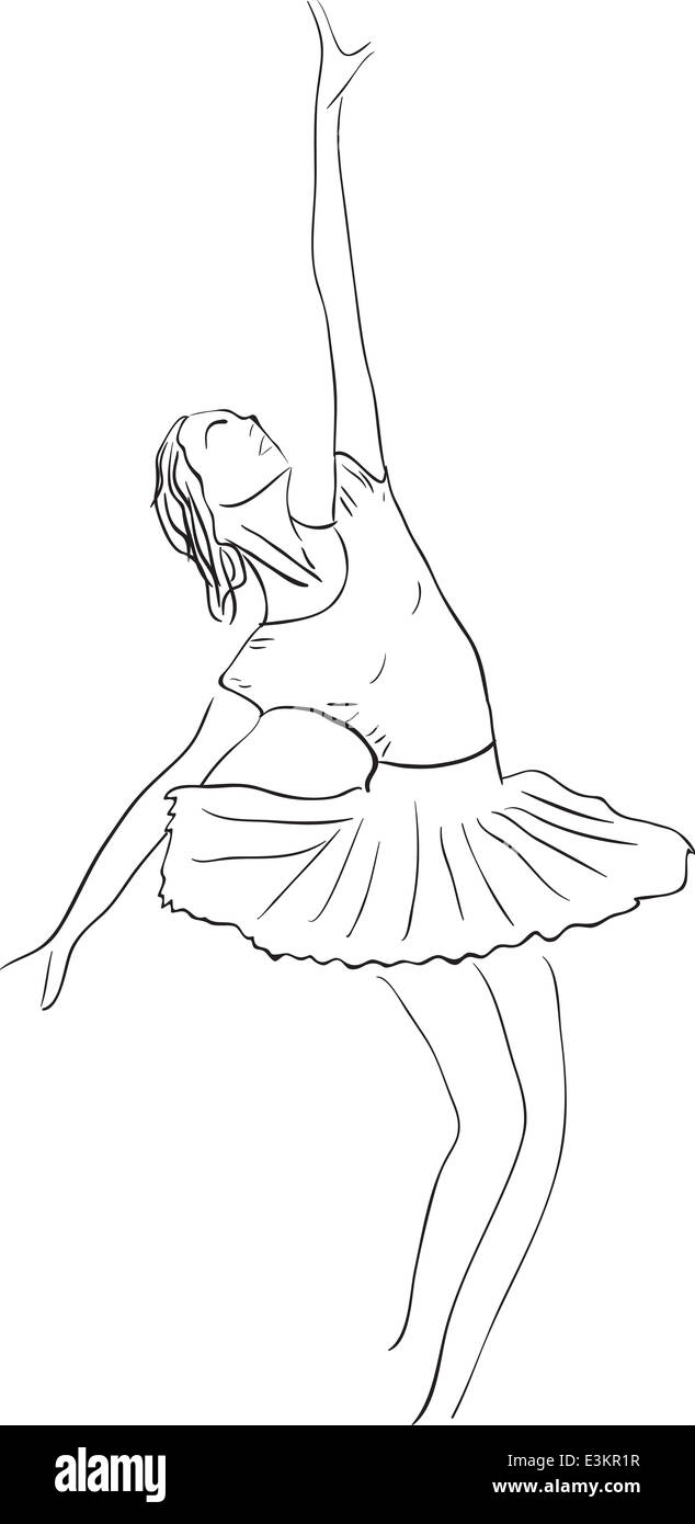 Painting Ballerina Black And White Stock Photos Images Alamy