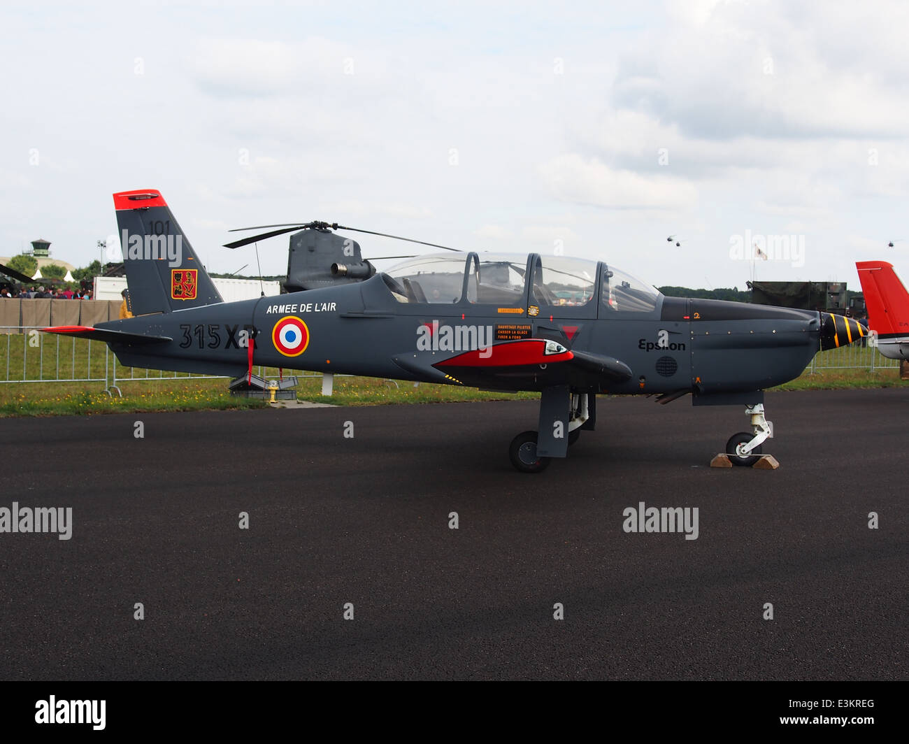 Socata TB-30 Epsilon of base aérienne 101 Toulouse-Francazal, 315XR, French Air Force, pic2 - Stock Image