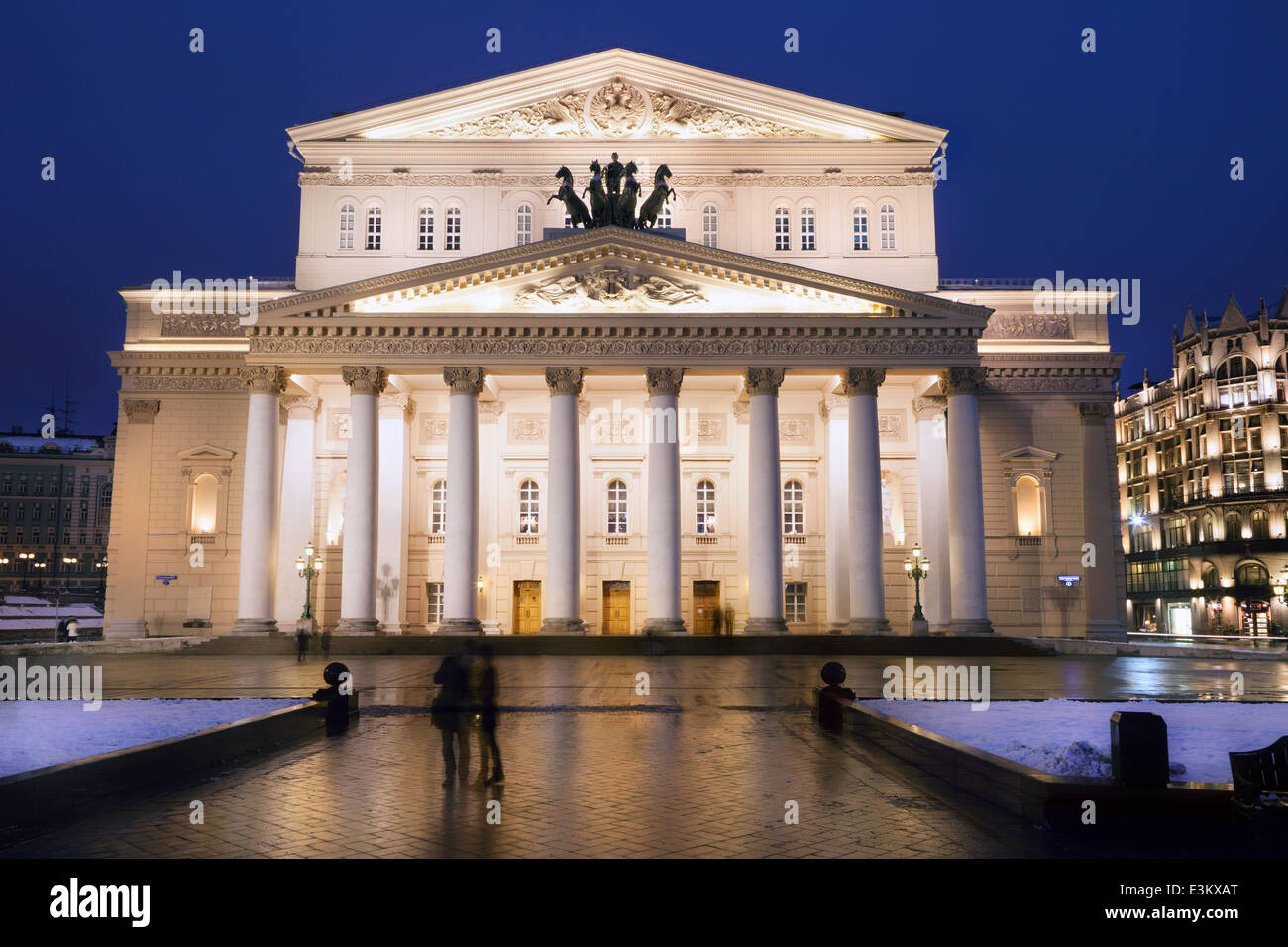 Night View Of The State Academic Bolshoi Theatre Opera And