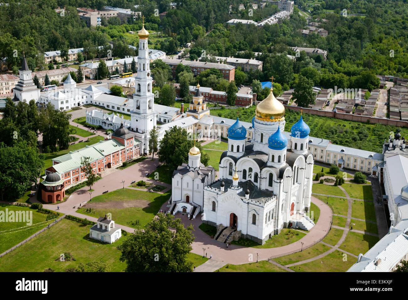 Aerial view of Saint Nicholas Ugreshsky monastery in Moscow region, Dzerzhinsky town, Russia - Stock Image