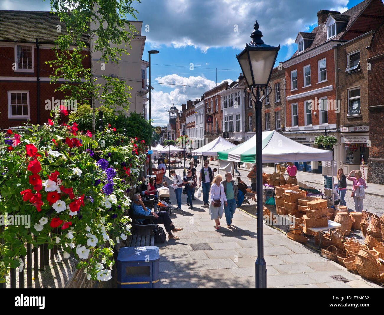 craft shop guildford historic guildford high and shoppers on a floral 1645