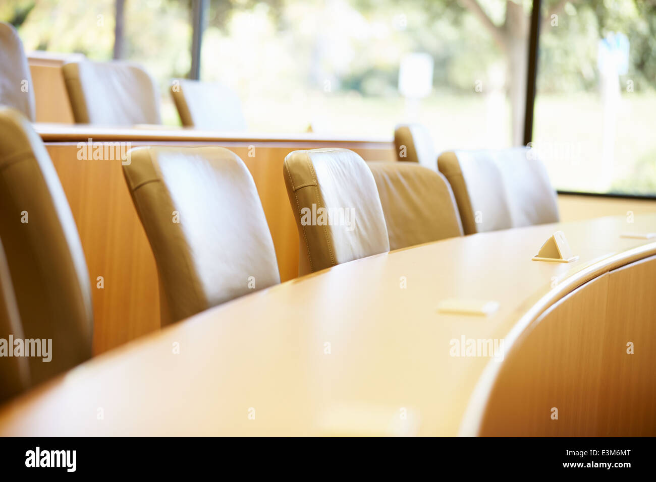 Empty Seats In University Lecture Theatre - Stock Image