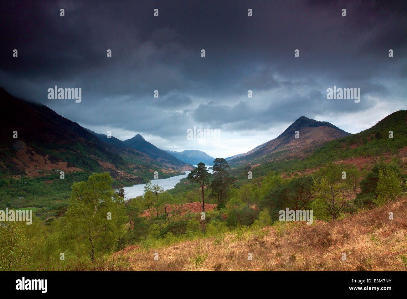 Loch Leven and Sgorr na Ciche from above Kinlochleven, Lochaber - Stock Image