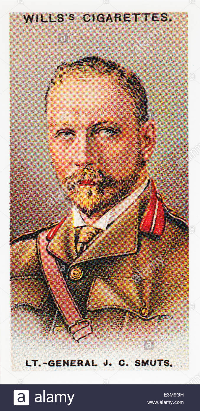 Wills cigarette card Lt.-General Jan Christiaan Smutts 1870-1950. EDITORIAL ONLY - Stock Image