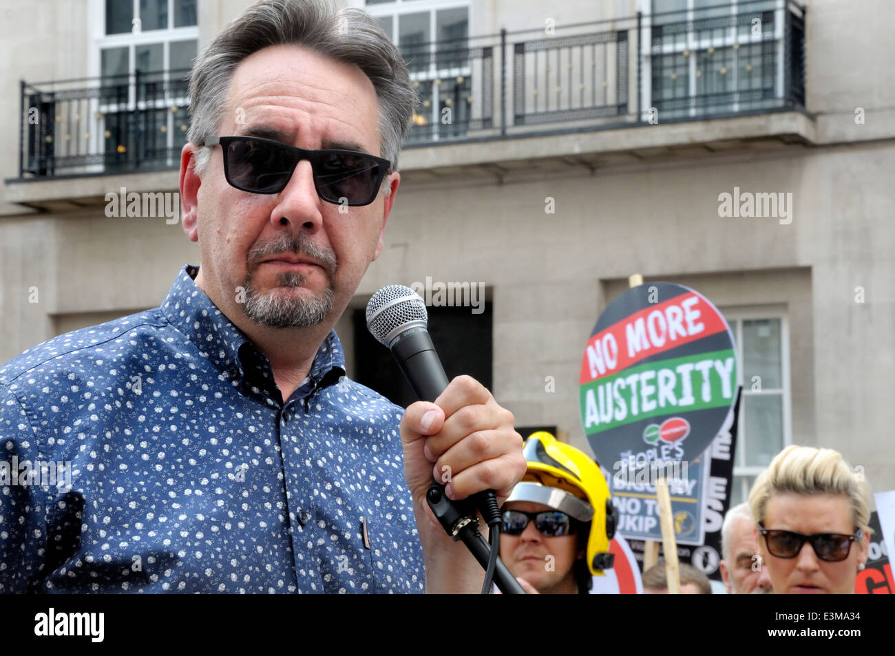 John Rees - British political activist, broadcaster, writer and member of Stop The War Coalition - London, 21st - Stock Image