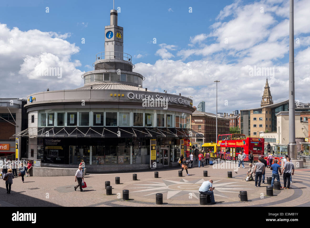 Queens Square centre in Liverpool's Roe Street. Stock Photo