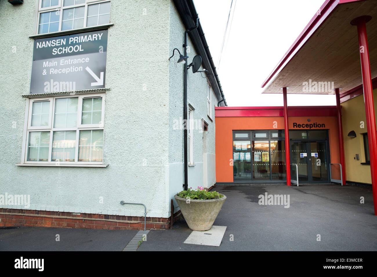 Nansen Primary School Birmingham. The school was one of five schools in the so called 'Trojan' scandal - Stock Image
