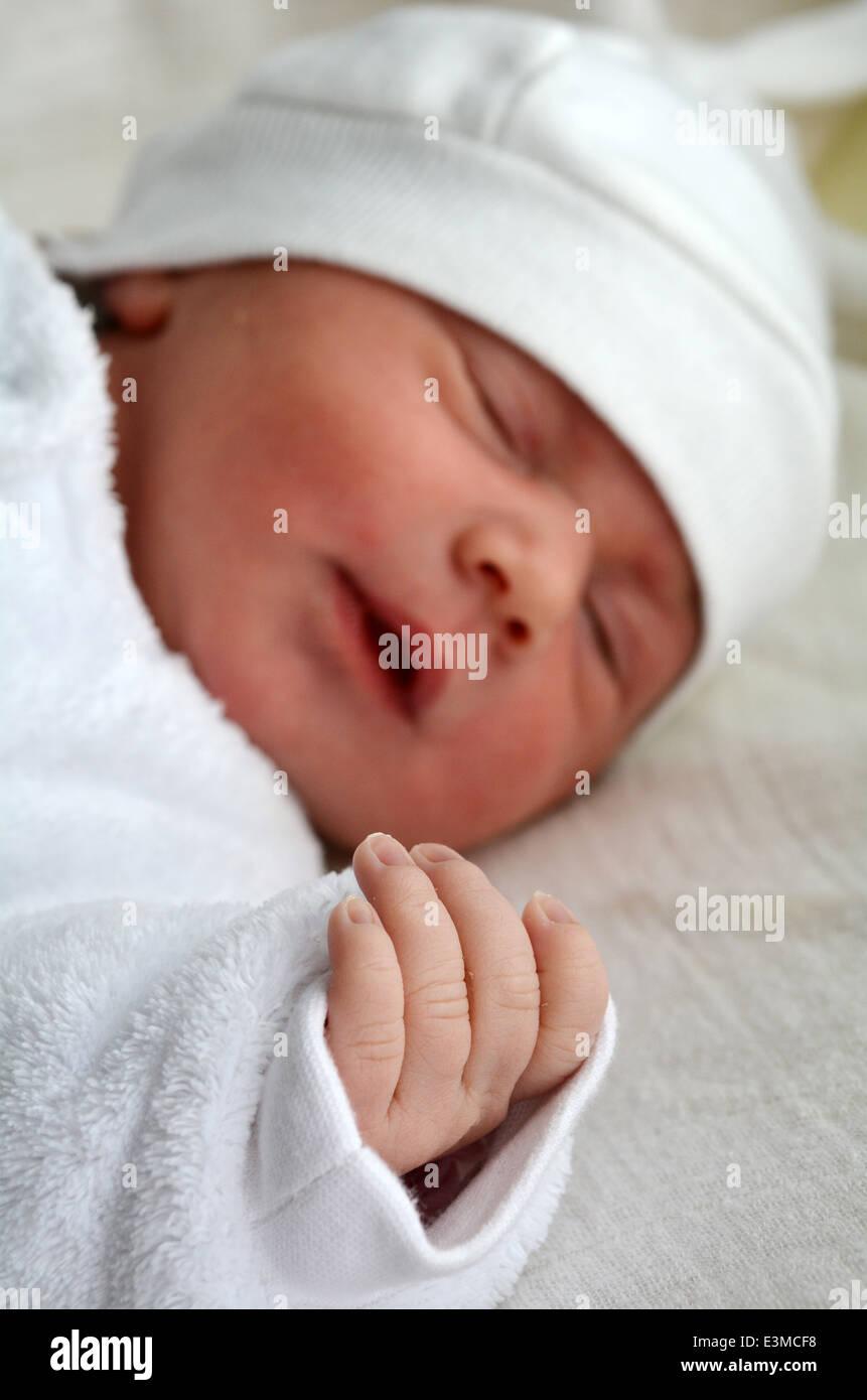little newborn baby 1 week old sleeps stock photo 71134316 alamy