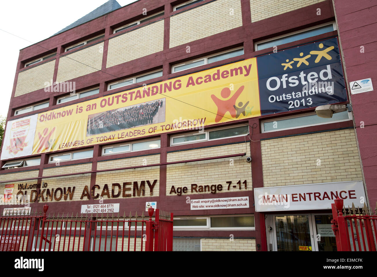 Oldknow Academy Birmingham. The school was one of five schools in the so called 'Trojan' scandal - Stock Image