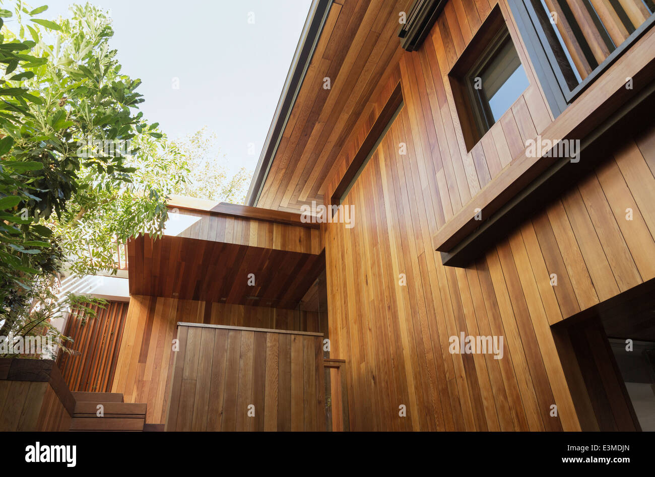 Detail of wood siding on house - Stock Image