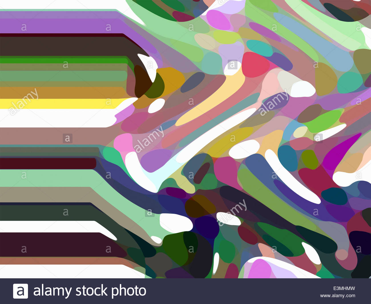 Multicolored abstract backgrounds pattern of order and chaos - Stock Image