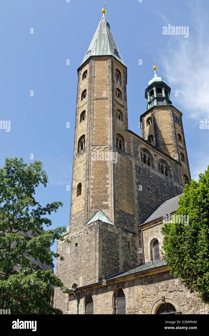 market church St. Cosmas and Damian, Goslar, Harz Mountains, Lower Saxony, Germany - Stock Image