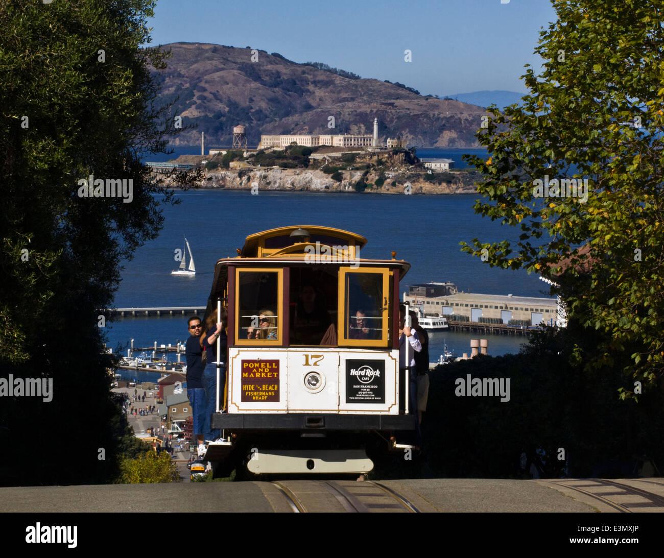 Cable Car San Francisco View Stock Photos & Cable Car San