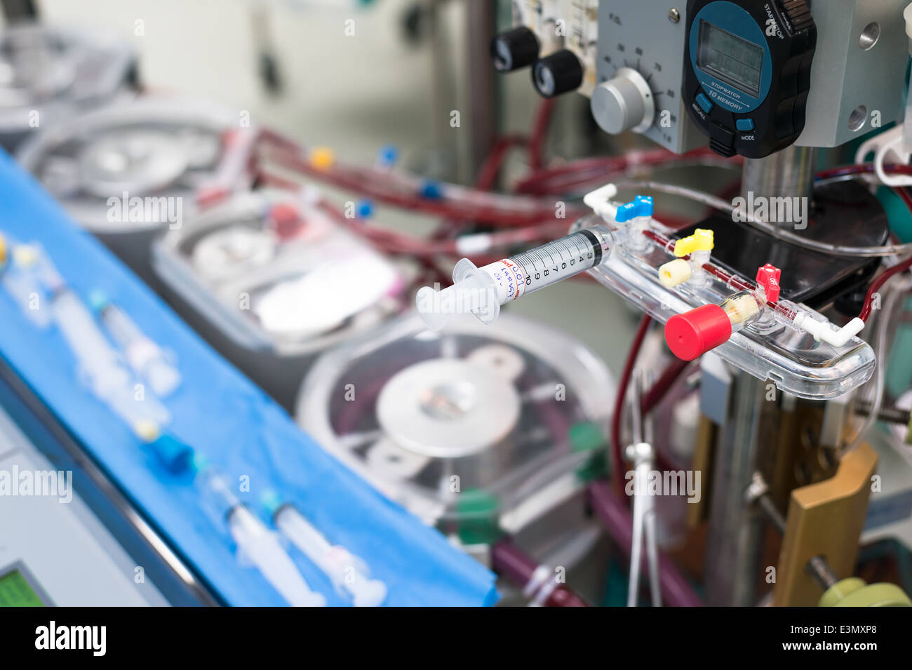 Part of heart lung machine - Stock Image