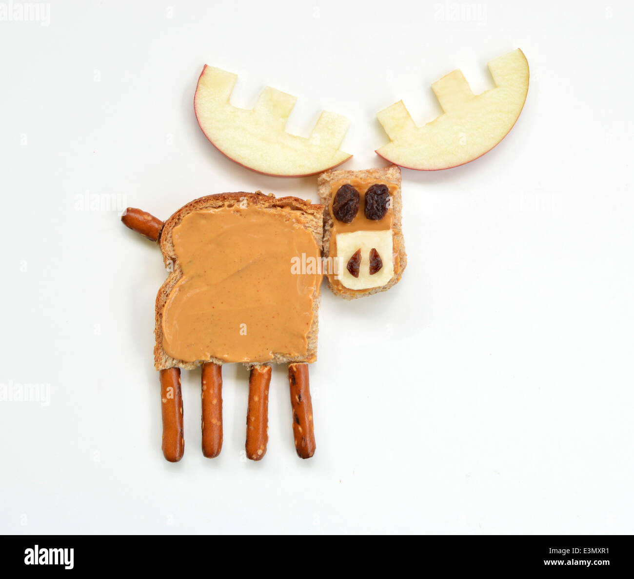 Moose food art - Stock Image