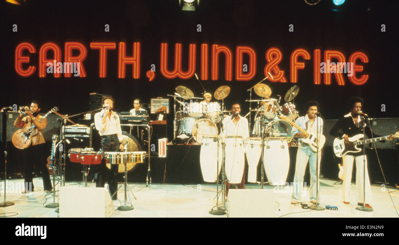 EARTH WIND & FIRE US Soul group about 1980. Photo Jeffrey Mayer - Stock Image