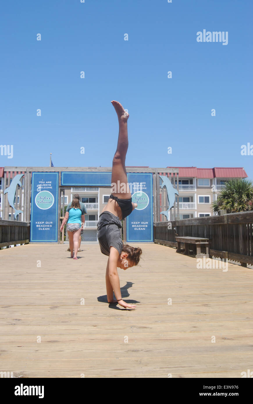 Cartwheel on the Pier - Stock Image