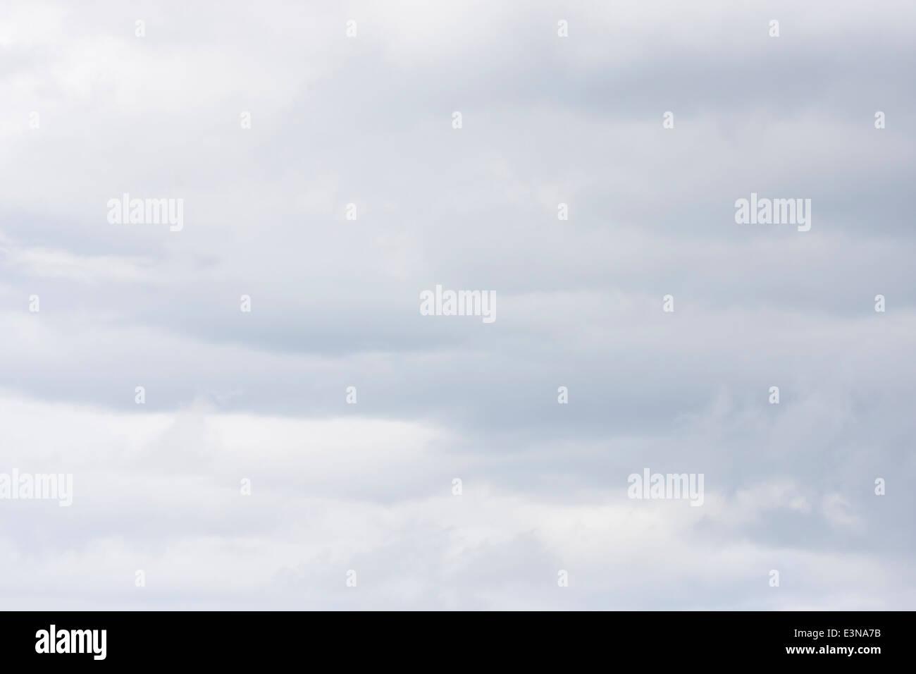 Abstract light gray overcast sky - Stock Image