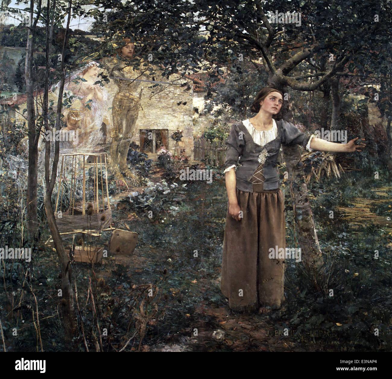 Jules Bastien-Lepage - Joan of Arc - 1879 - MET Museum - New-York - Stock Image