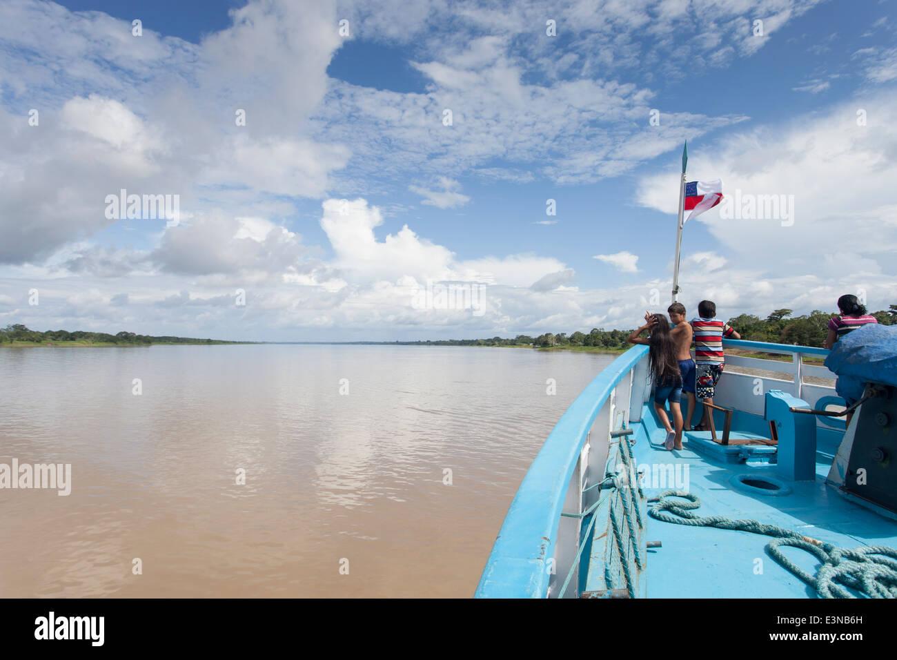 Blue sky morning - Stock Image