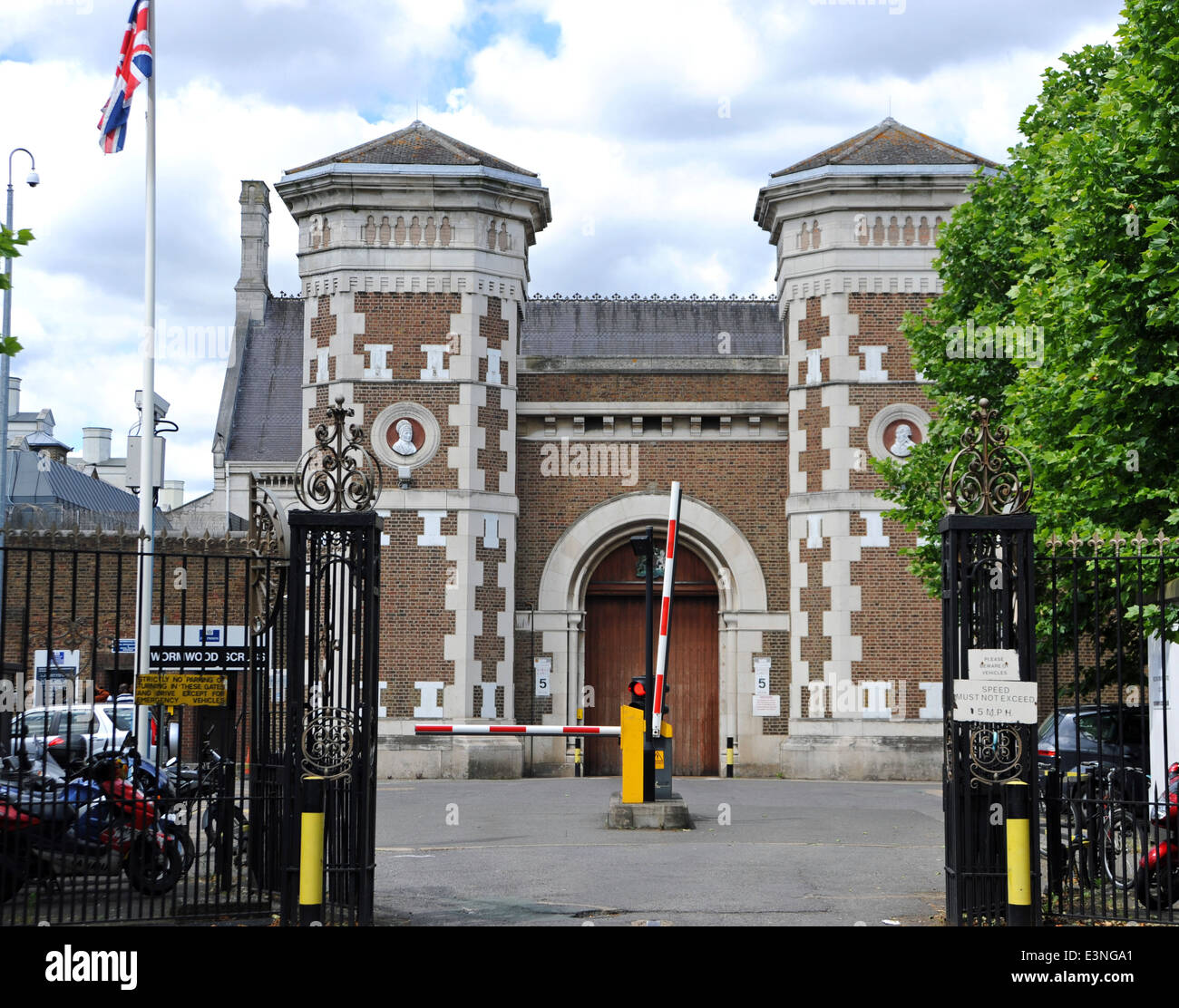 Her Majestys Prison Wormwood Scrubs at East Acton in the London Borough of Hammersmith and Fulham - Stock Image