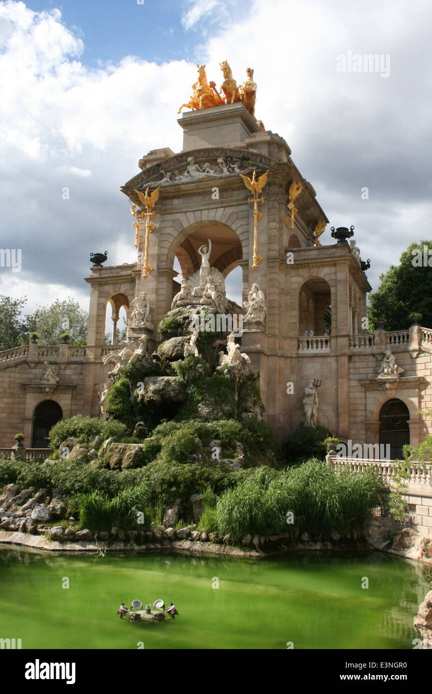 Font de la Cascada Barcelona - Stock Image