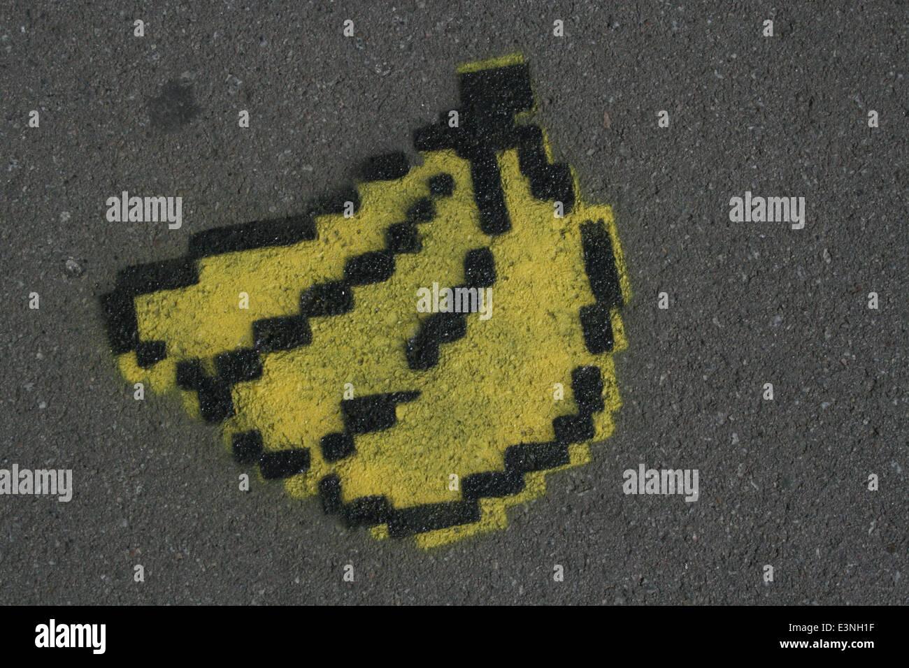 Grafitti Banane - Stock Image