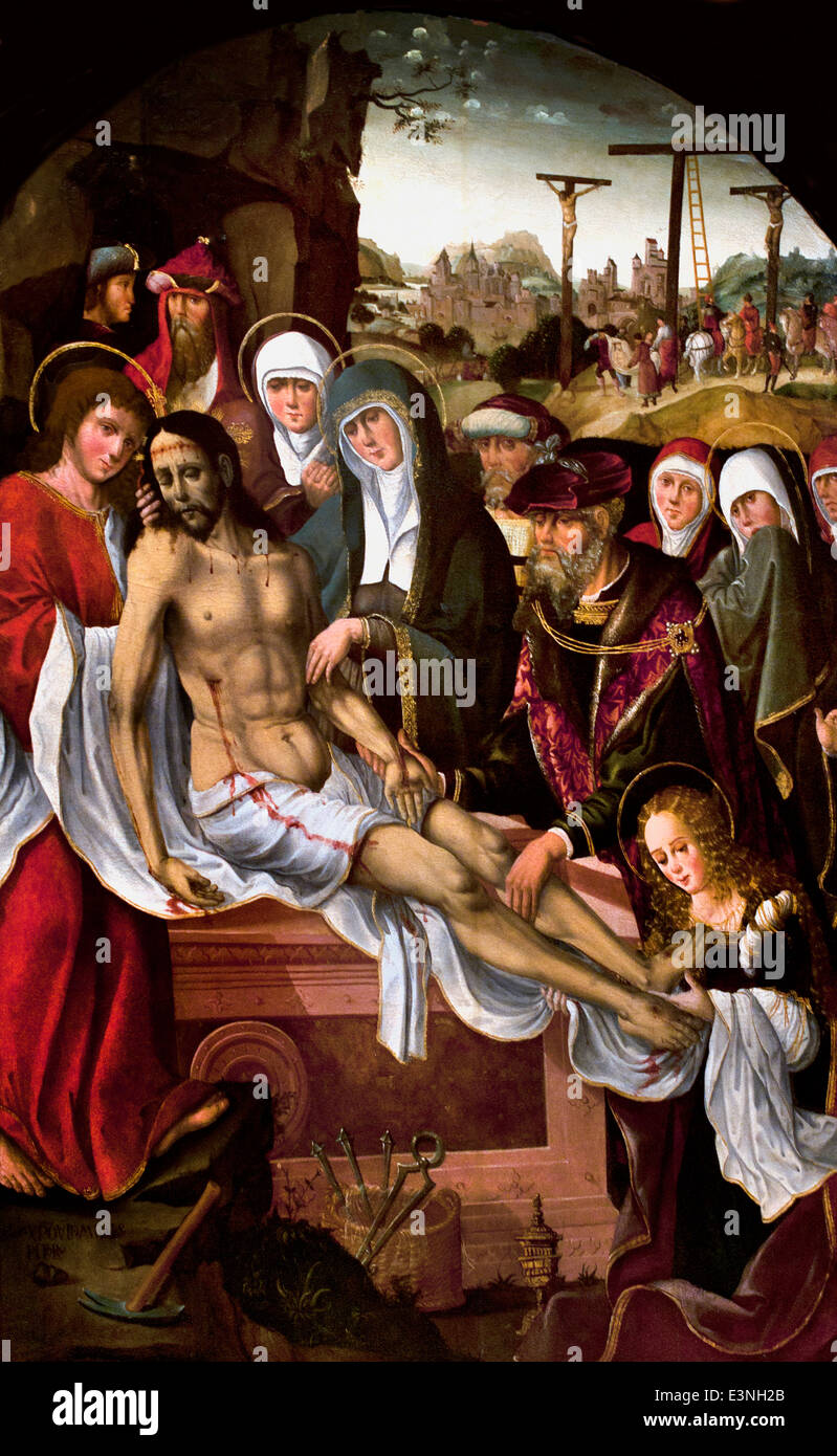 Entombment 1525 Morales Cristobal act 1501-1533 Spain Spanish - Stock Image