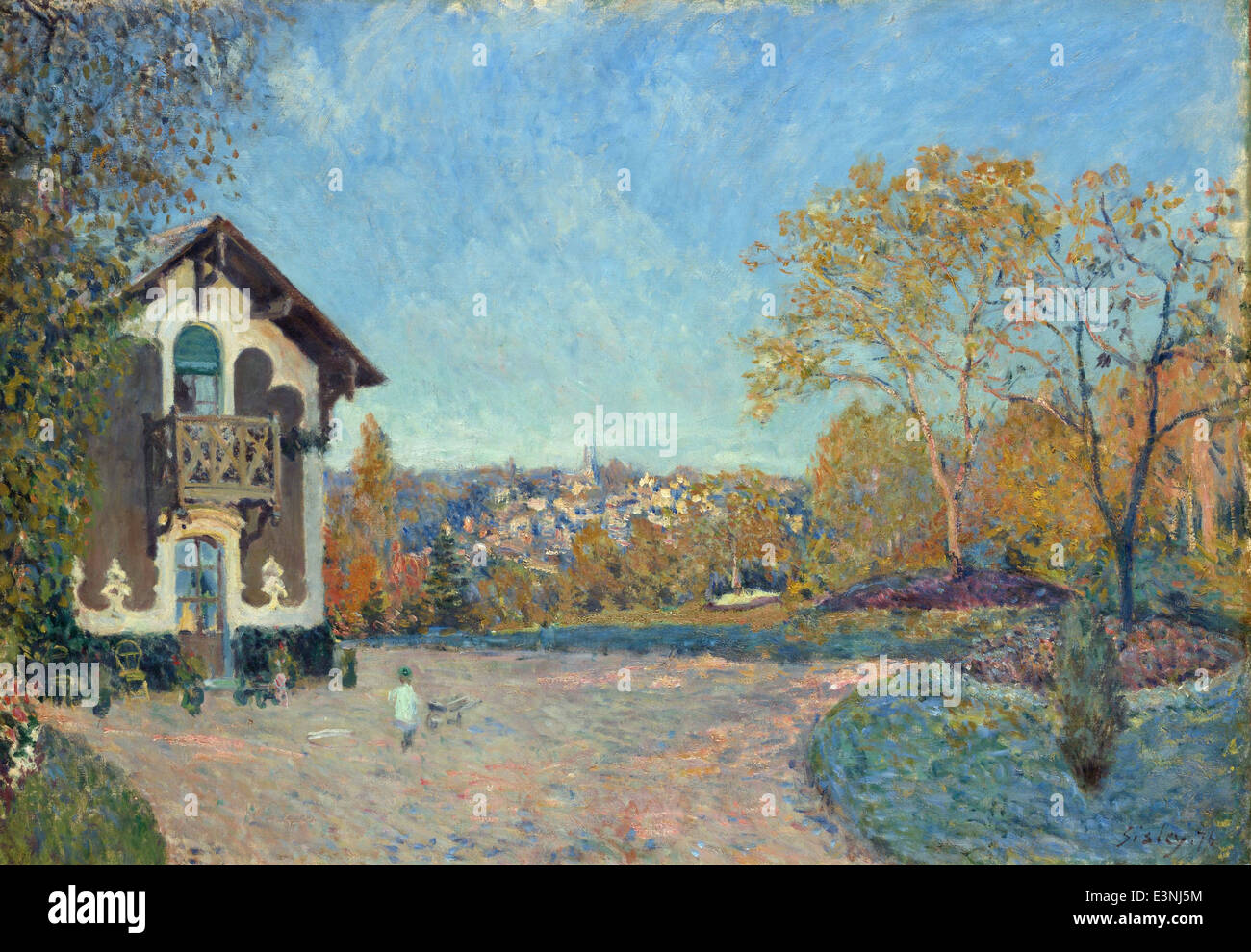 Alfred Sisley - View of Marly-le-Roi from Coeur-Volant - 1876 - MET Museum - New-York - Stock Image