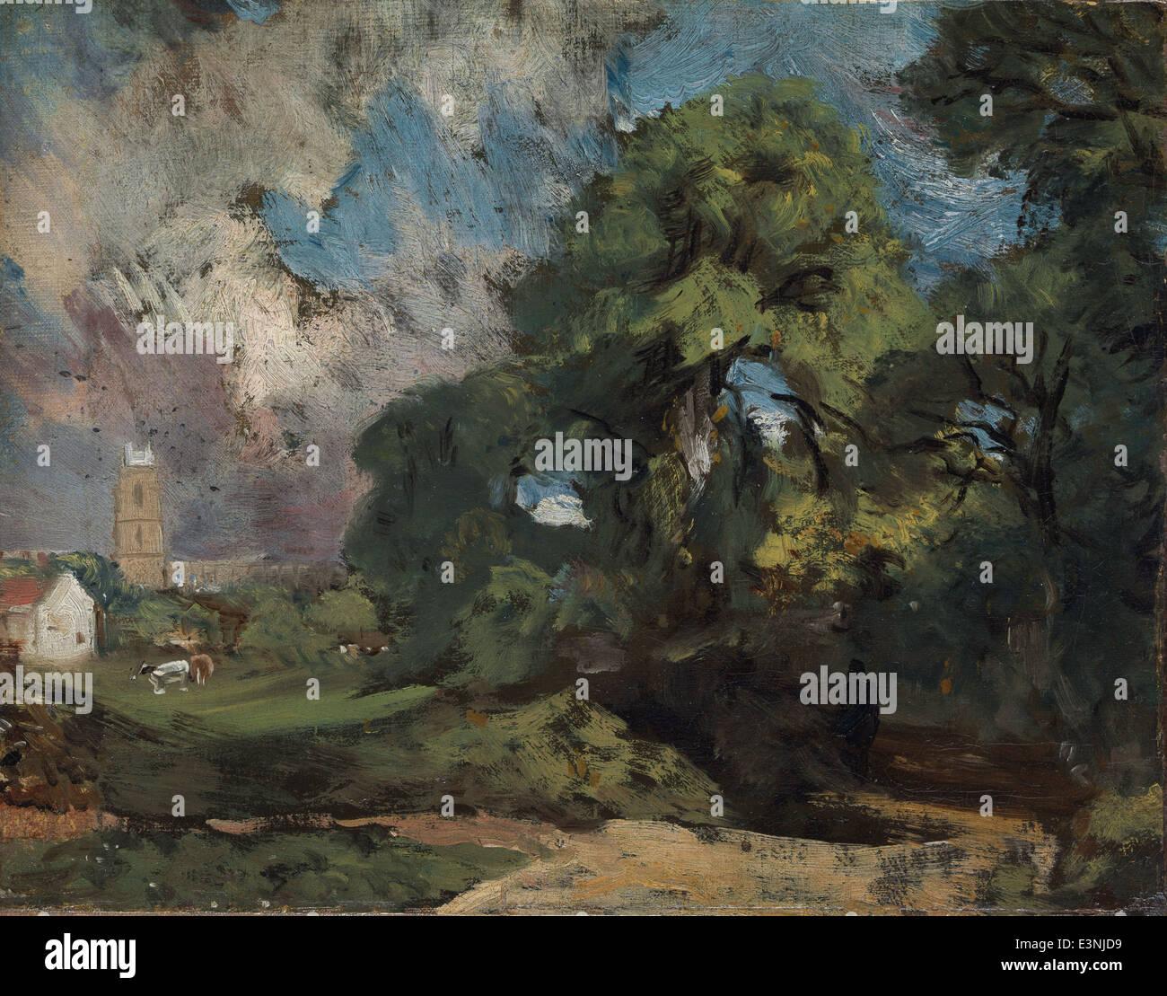 John Constable - Stoke-by-Nayland - 1811 - MET Museum - New-York - Stock Image