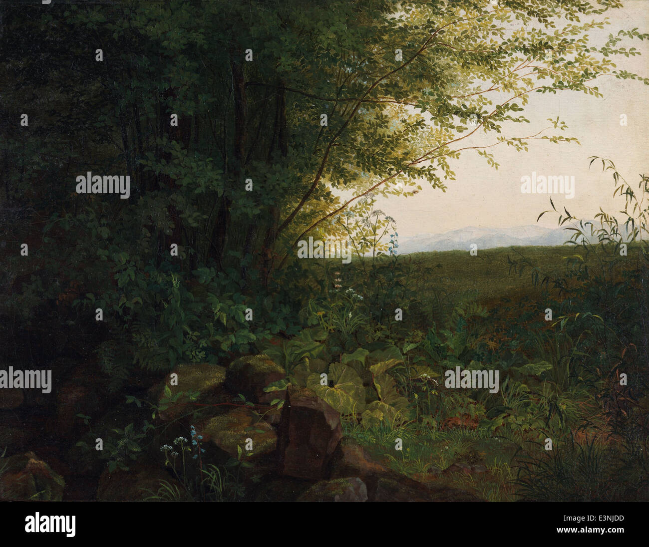 August Heinrich - At the Edge of the Forest - 1820 - Stock Image