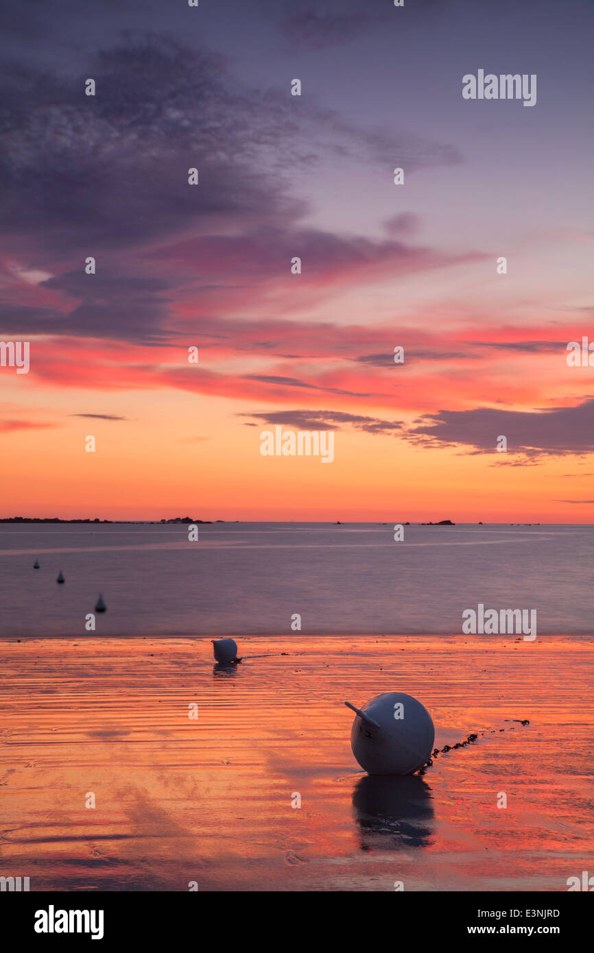 Ladies Bay Guernsey - Stock Image